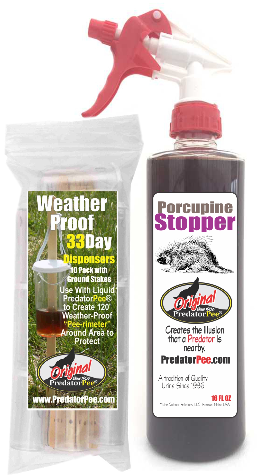 PorcupineStopper 16 oz - Dispenser SUPER SAVER COMBO Size & Fit Guide