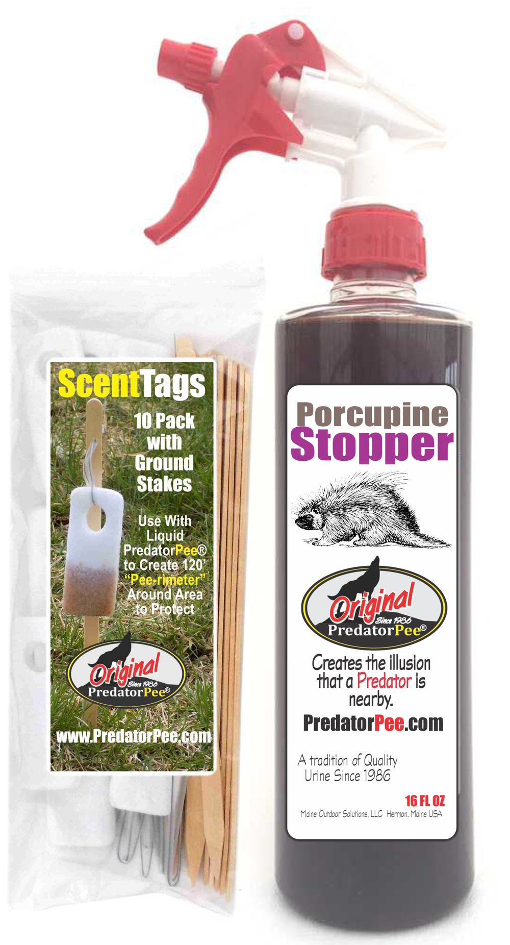 Porcupine-16oz-Scent Tag Combo
