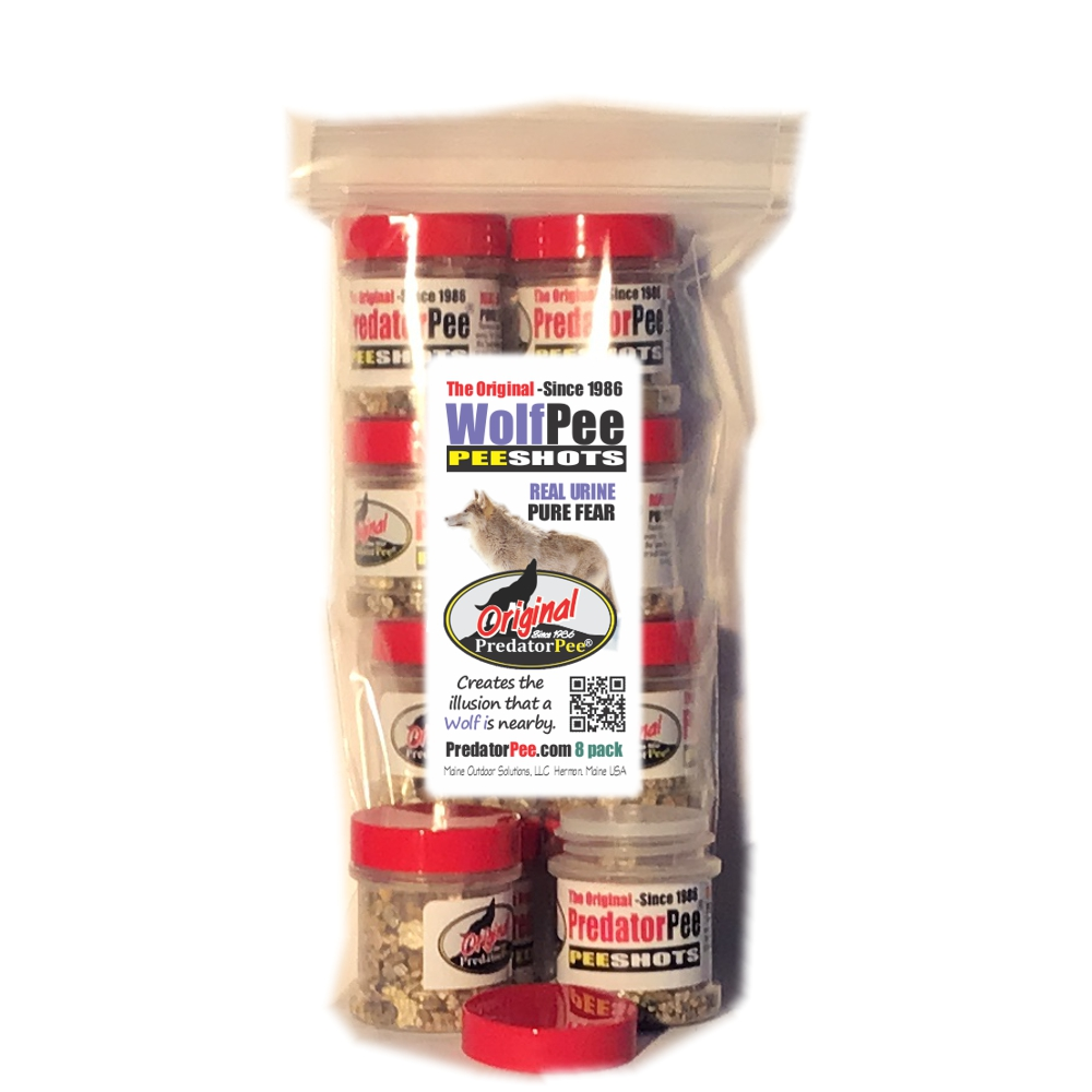 Wolf  Urine PeeShots - For Indoors and Vehicles - 8 pack