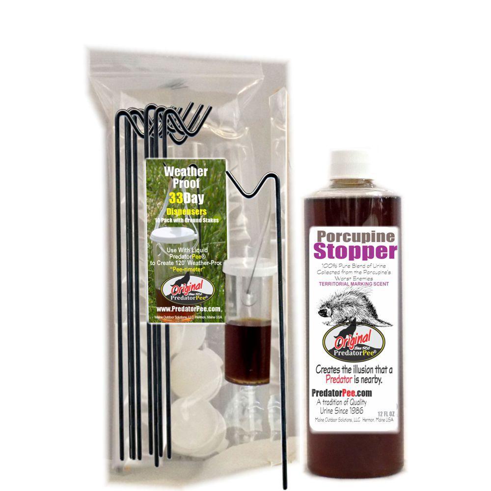 PorcupineStopper 12 oz - 33 Day Dispenser SUPER SAVER COMBO