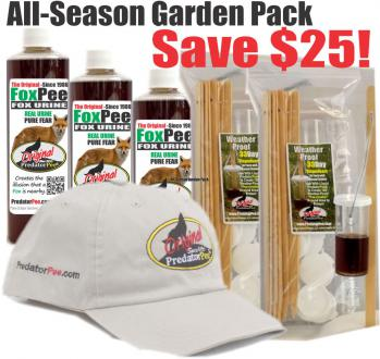 Fox Pee All Season Weather-proof Dispenser Garden Pack - Save $25!