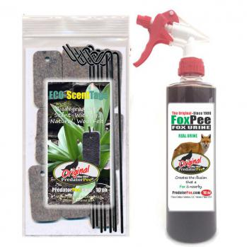 Fox Urine 16 oz - ScentTag Combo