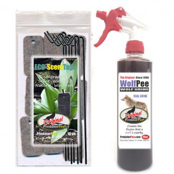 Wolf Urine 16 oz - ScentTag Combo