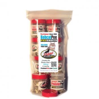 Bobcat Urine PeeShots - For Indoors and Vehicles - 8 pack