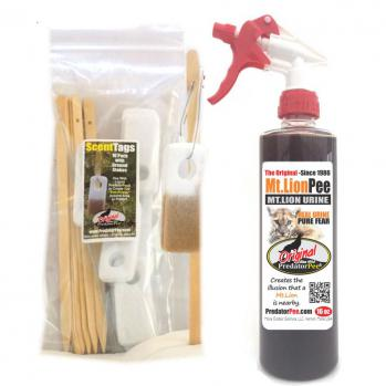 Mountain Lion Urine 16 oz - ScentTag Combo