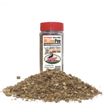 Mountain Lion Urine 16 oz Yard Cover Shakin' Flake Granules (200 sq ft/ jar)